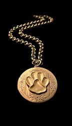 Paw Print Jewelry: Locket Necklace