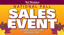 Toll Brothers Announces National Fall Sales Event -- Home ...