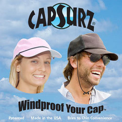 Keep Your Hat from Blowing Off with Capsurz, the Only Patented Cap Accessory Cord.
