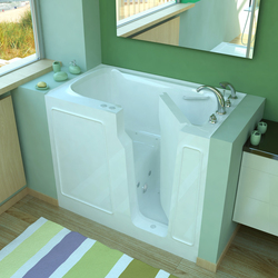 Walk in tubs acrylic vs fiberglass construction for Pros and cons of acrylic bathtubs