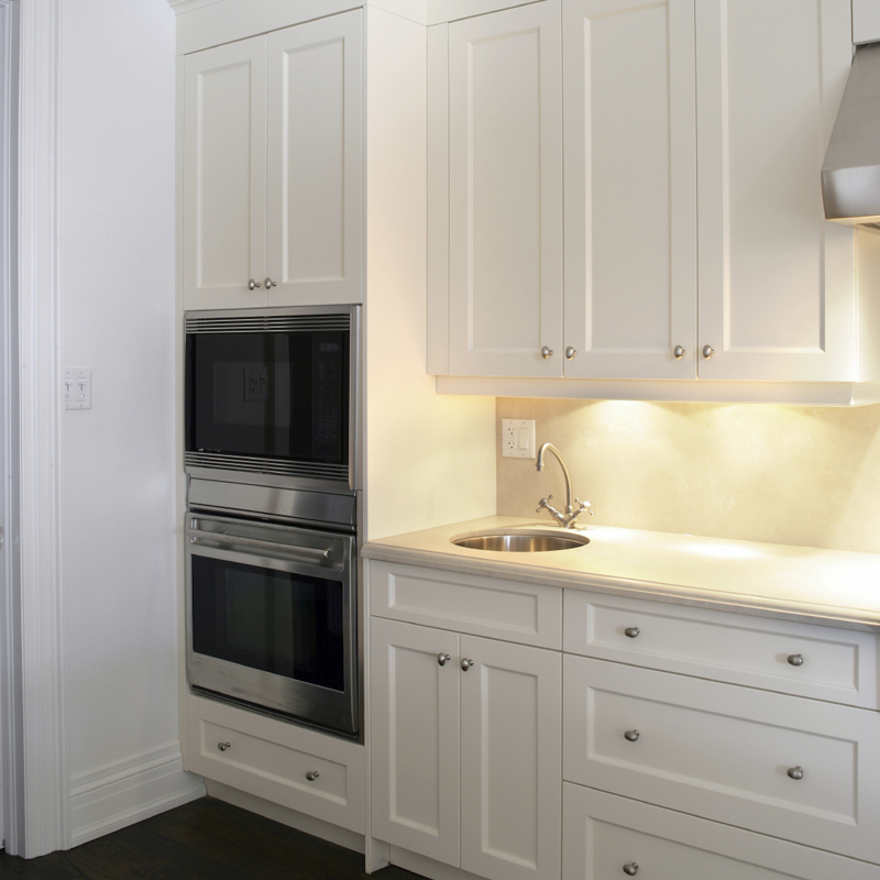 Puck Lights Installed Under Cabinets Create Perfect Task Lighting