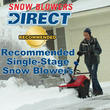 Snow Blowers Direct Announces Best Single Stage Snow Throwers
