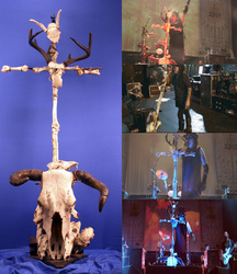 "Minsitry's Al Jourgensen's ""Skull and Bones"" Microphone Stand"