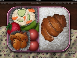 Screenshot of sample bento lunch design in Bento Master