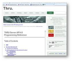 Thru MFTaaS with Web Services API