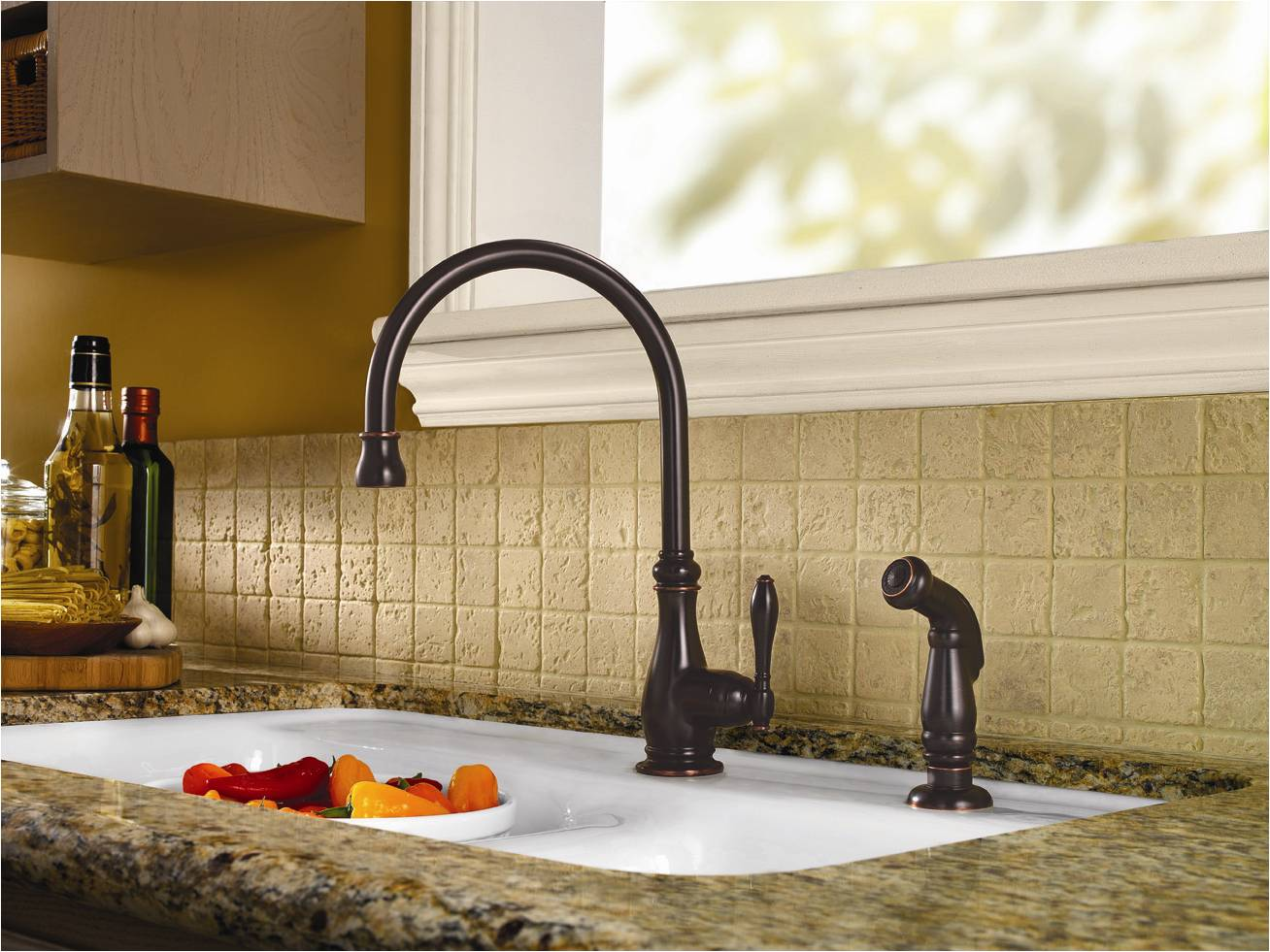 prweb price pfister kitchen faucet The Alina Kitchen Faucet s traditional style features a spout height of 14 inches with 8 5 inches of spout clearance for larger pots and bowls
