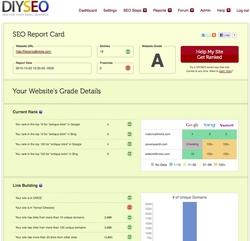 DIYSEO Report Card