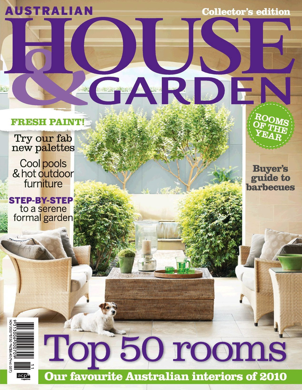 Top 50 rooms of 2010 featured in november issue of for House designs magazine
