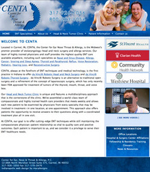 Indianapolis medical web design by MaryDesigns