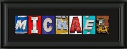 Photo Personalized Letter Art Holiday Christmas Gift Idea