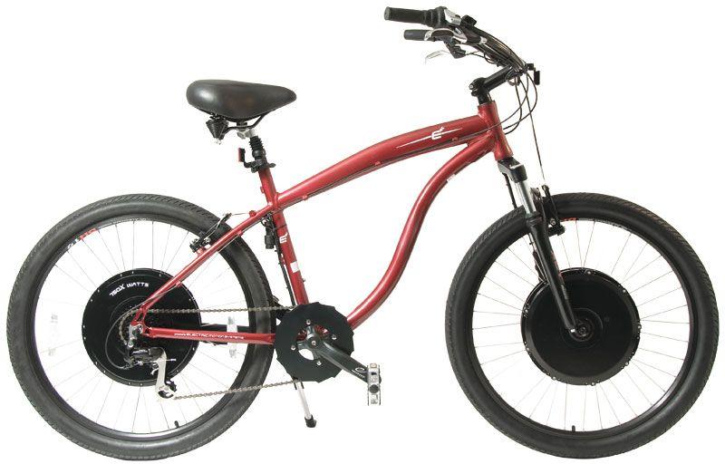 E Electric Beach Cruiser Bike  Bicycles  Pinterest