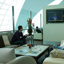 a VIP airport lounge
