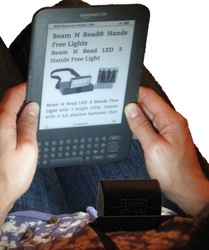 Beam N Read LED 3 Hands Free Light with Amazon Kindle