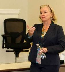 Debbie Qaqish, CRO of The Pedowitz Group, addresses MBA Students at The College of William and Mary, Mason School of Business