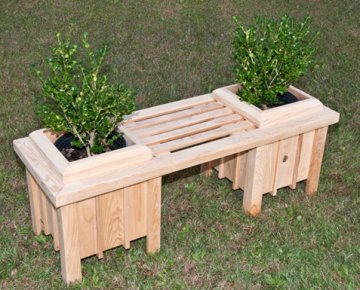 Wood Bench Planter