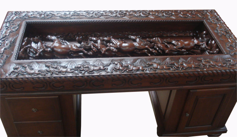 Partners of Custom Hand Made Solid Wood Furniture - Hand Carved