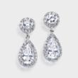 Cubic Zirconia Wedding Earrings
