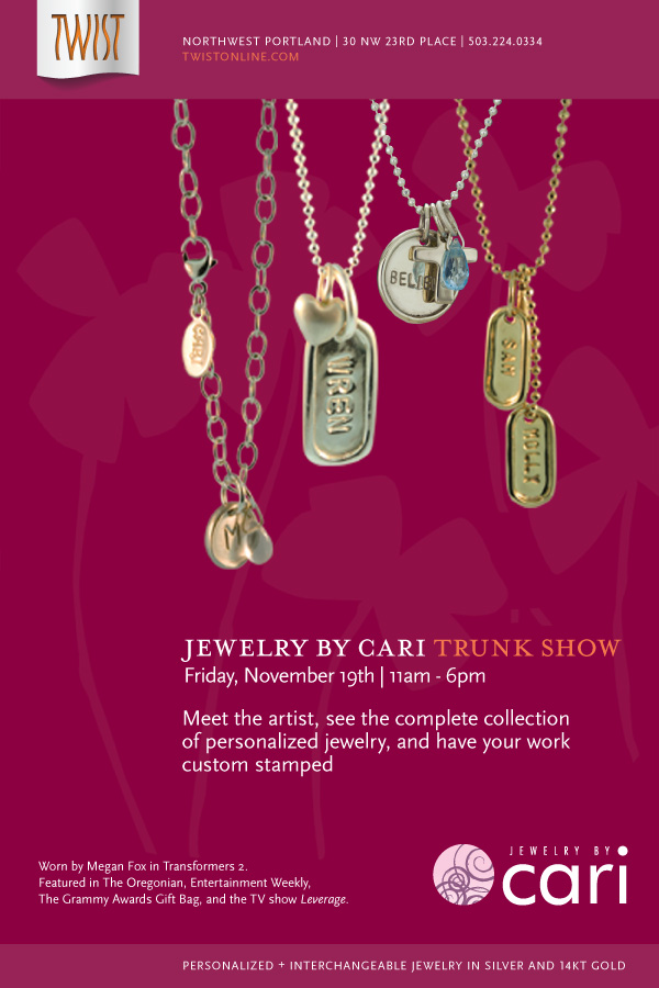 Jewelry by Cari Tours Oregon with New Collection