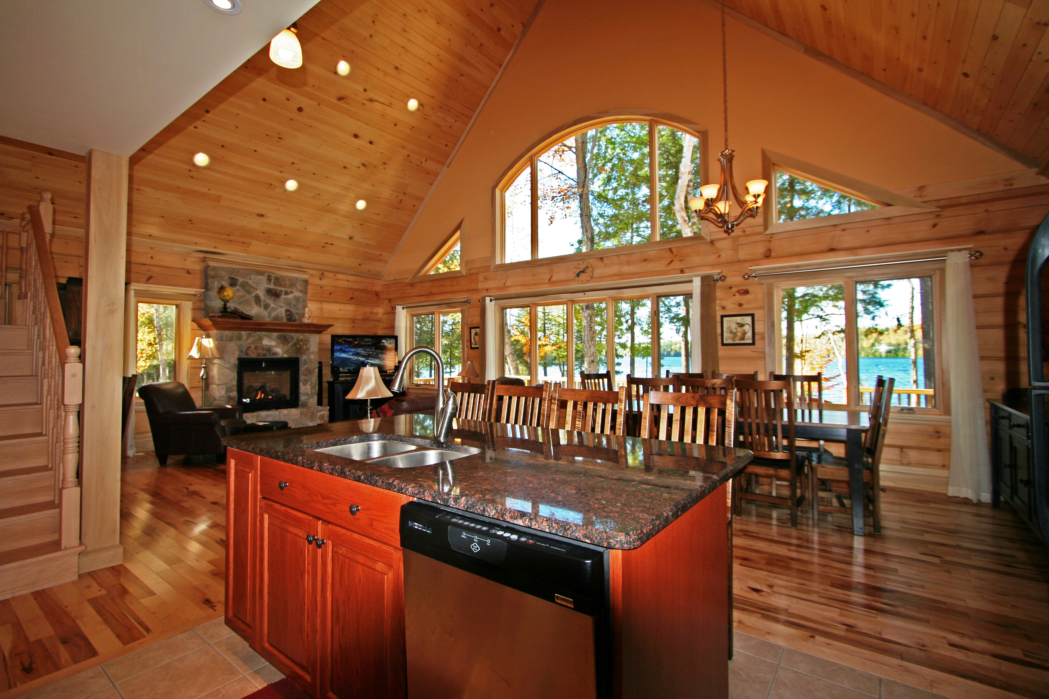 1867 confederation log timber frame homes to showcase for Timber frame home interiors