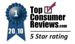TopConsumerReviews.com 2010 5-Star Award
