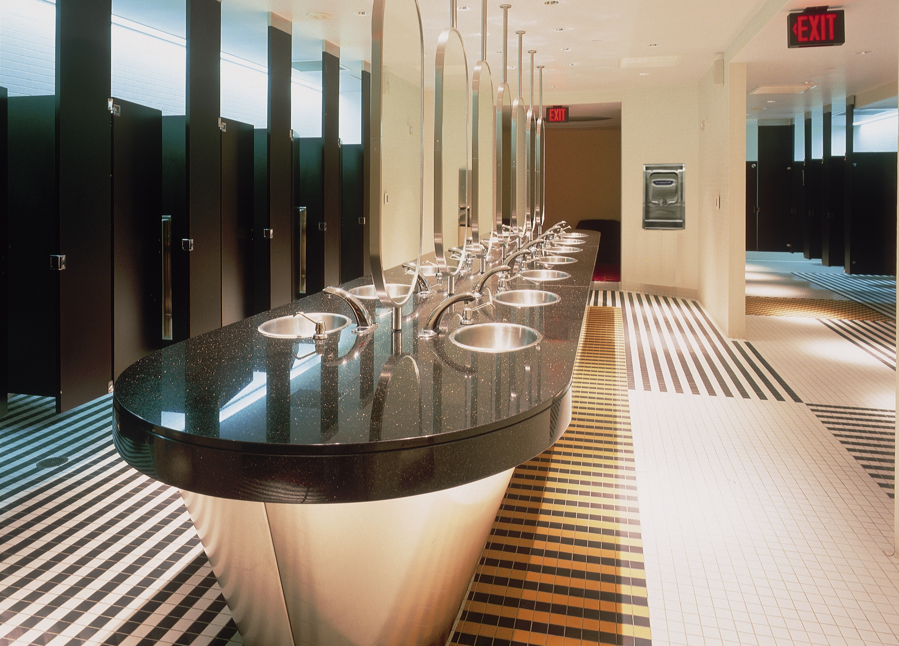 Excel dryer and sloan valve showcase course in next for New washroom designs