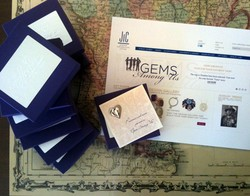 Sentimental gifts of heart jewelry to be awarded the finalists of the Gems Among Us contest Thanksgiving Day.