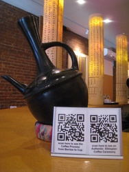 Customers can Scan QR Codes and Learn More About Ethiopian Coffee at Mesob Ethiopian Restaurant