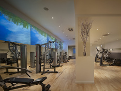 A Fitness at AKA Central Park, the largest hotel workout facility per guestroom in NYC