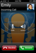 Image of a free incoming VOIP call with WhosHere