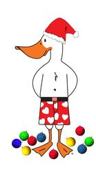 The WebUndies Santa Duck