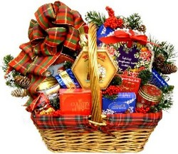Deluxe holiday gift baskets from www.giftbasketvillage.com