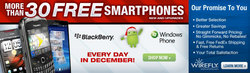 Wirefly.com Announces Supersized Holiday Smartphone Sale -- Over 30 Free Smartphones