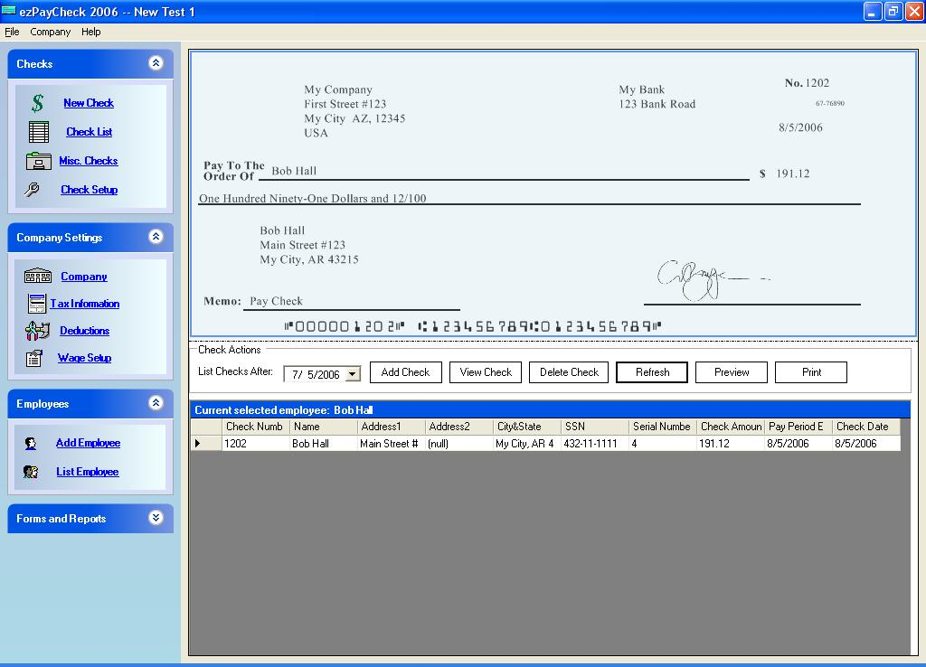 Ezpaycheck  Payroll Software Now Available With  Form For