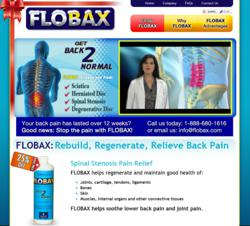 Spinal Stenosis Pain Relief by Flobax.com