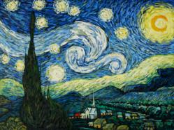 Vincent van Gogh's masterpiece Starry Night is the most popular oil painting in 2011, according to overstockArt.com statistics.