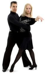 Metropolitan Ballroom's part-owner and instructor, Clement Joly and his partner Tatiana Kazakova
