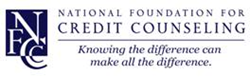 The NFCC offers credit counseling, HUD housing counseling, student loan counseling, bankruptcy counseling, and budget counseling.