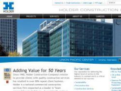 Holder Construction Website on the SharePoint platform