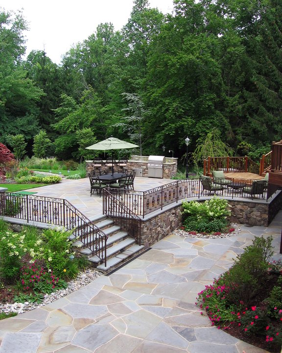 Big Backyard Landscaping Ideas: New Jersey Outdoor Living Space Company Wins Big In 2010