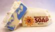 Each 5-ounce bar of Goat Milk Stuff soap, such as the Ocean selection above, contains an ounce of goat milk.