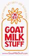 "Goat Milk Stuff logo with slogan of ""Work Hard, Get Dirty, Use Good Soap."""