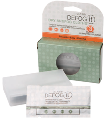 Defog It antifog, first proven by the military, is now the choice for fog-free safety eyewear in mining, steel, manufacturing, law enforcement, and food and chemical processing.