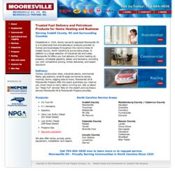 IndustrialWebSolutions.com client Mooresville Oil Co., Inc.