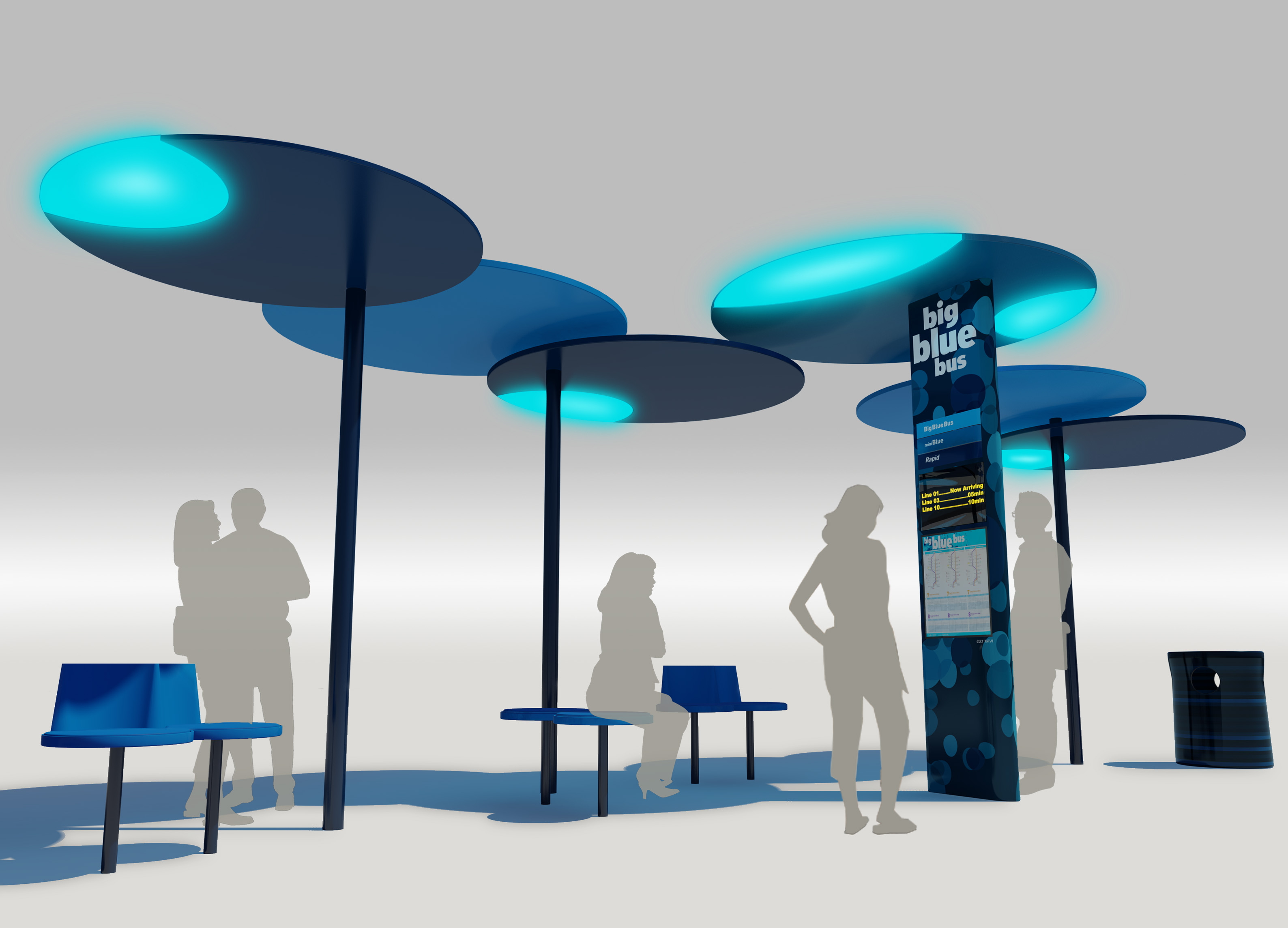Big Blue Bus High Tech Bus Stop Program Wins Prestigious