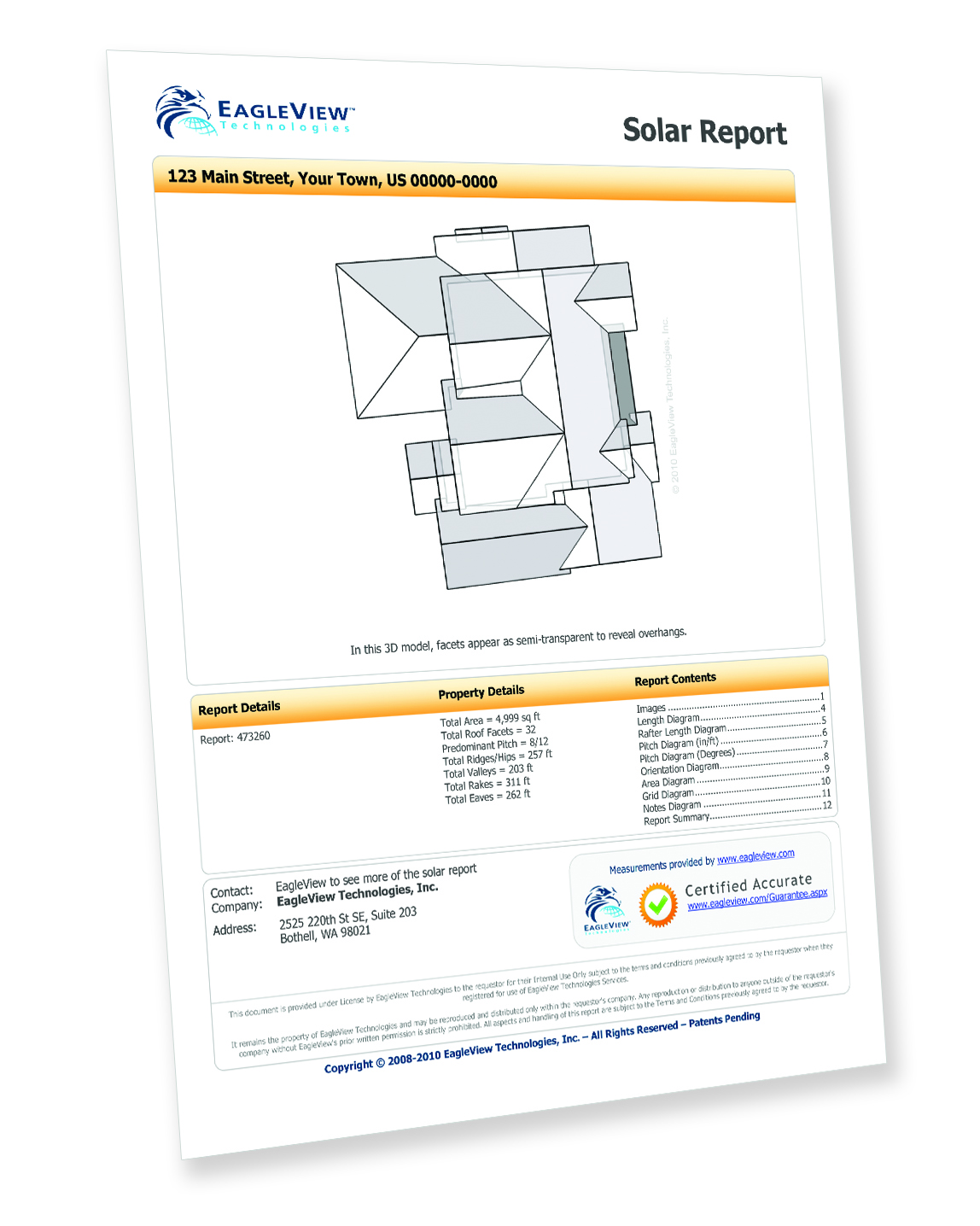 EagleView Technology Solar Report EagleView Technology Solar Report