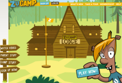 ZuCamp offers a huge selection of online games for children that is much like those they play at real life camps.