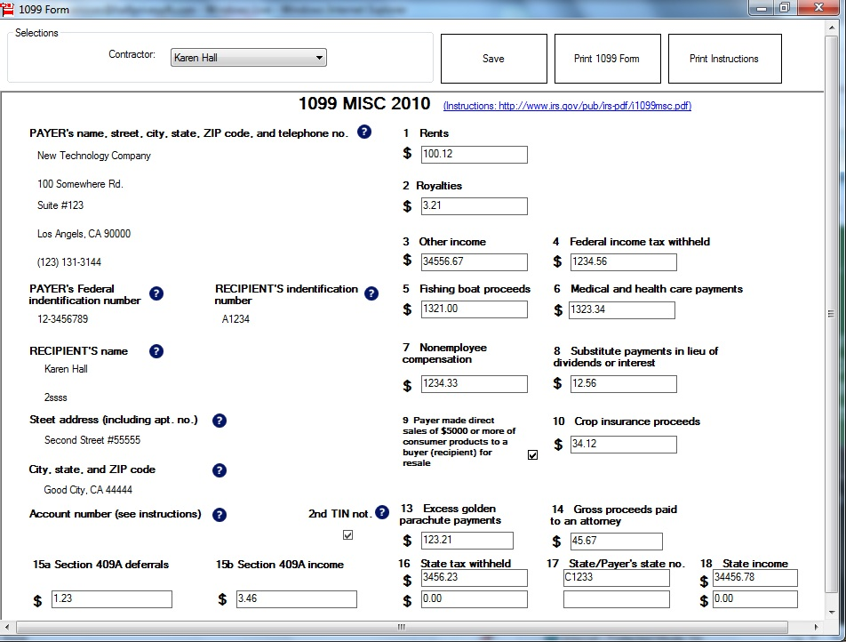Ezw2 1099 W2 Software Help Business Owners Meet Jan 31 2011 Form