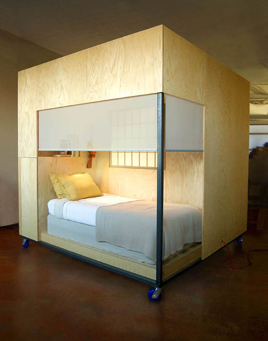Adjustable Bed Base >> Bay Area Feng Shui Expert Builds a Mobile Dwelling Cube ...