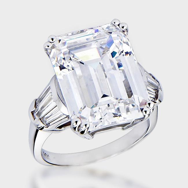 15 0 Carat Clic Emerald Cut Cubic Zirconia Ring