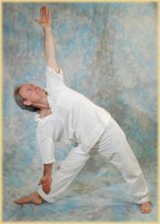 Dr. Halpern Practicing Yoga asanas